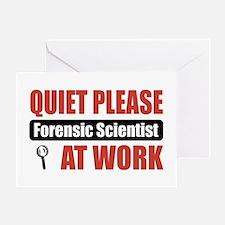 Forensic Scientist Work Greeting Card