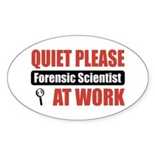 Forensic Scientist Work Oval Decal