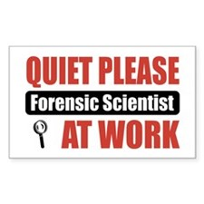 Forensic Scientist Work Rectangle Decal
