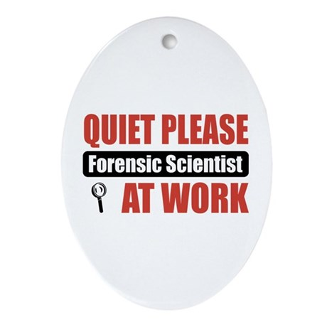 Forensic Scientist Work Oval Ornament