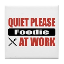 Foodie Work Tile Coaster