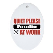 Foodie Work Oval Ornament