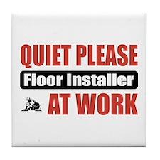 Floor Installer Work Tile Coaster