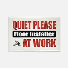 Floor Installer Work Rectangle Magnet