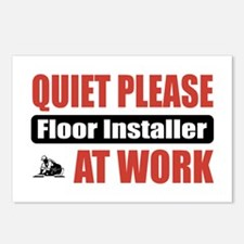 Floor Installer Work Postcards (Package of 8)