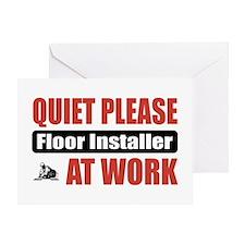 Floor Installer Work Greeting Card