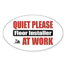 Floor Installer Work Oval Decal