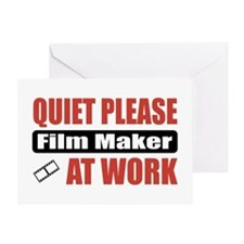 Film Maker Work Greeting Card