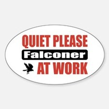 Falconer Work Oval Decal