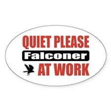 Falconer Work Oval Sticker (50 pk)