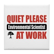 Environmental Scientist Work Tile Coaster
