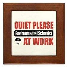 Environmental Scientist Work Framed Tile