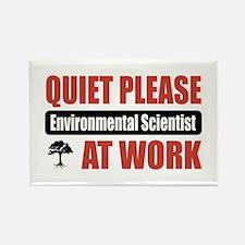 Environmental Scientist Work Rectangle Magnet