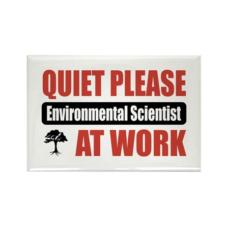 Environmental Scientist Work Rectangle Magnet (100