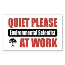 Environmental Scientist Work Rectangle Decal