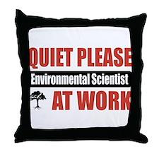 Environmental Scientist Work Throw Pillow