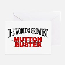 """The World's Greatest Mutton Buster"" Greeting Card"