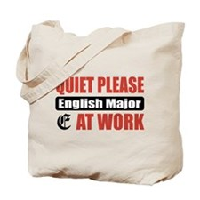 English Major Work Tote Bag