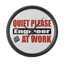 Engineer Work Large Wall Clock