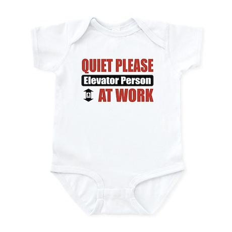 Elevator Person Work Infant Bodysuit