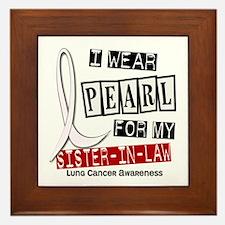 I Wear Pearl For My Sister-In-Law 37 Framed Tile
