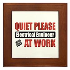 Electrical Engineer Work Framed Tile