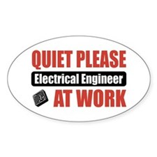 Electrical Engineer Work Oval Decal