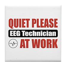 EEG Technician Work Tile Coaster