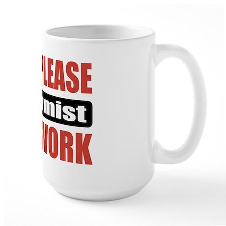Economist Work Large Mug