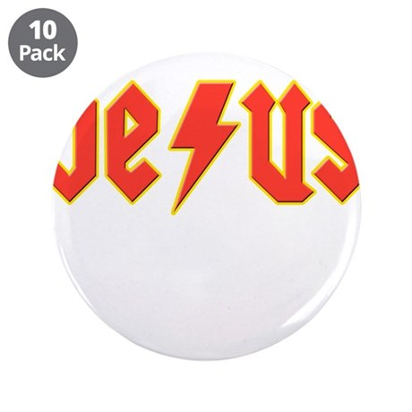 """Saved Jesus 3.5"""" Button (10 pack)"""