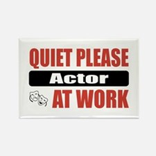 Actor Work Rectangle Magnet