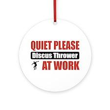 Discus Thrower Work Ornament (Round)