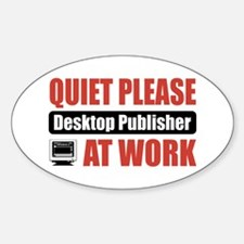 Desktop Publisher Work Oval Decal