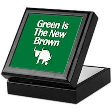 Green is The New Brown Keepsake Box
