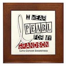 I Wear Pearl For My Grandson 37 Framed Tile