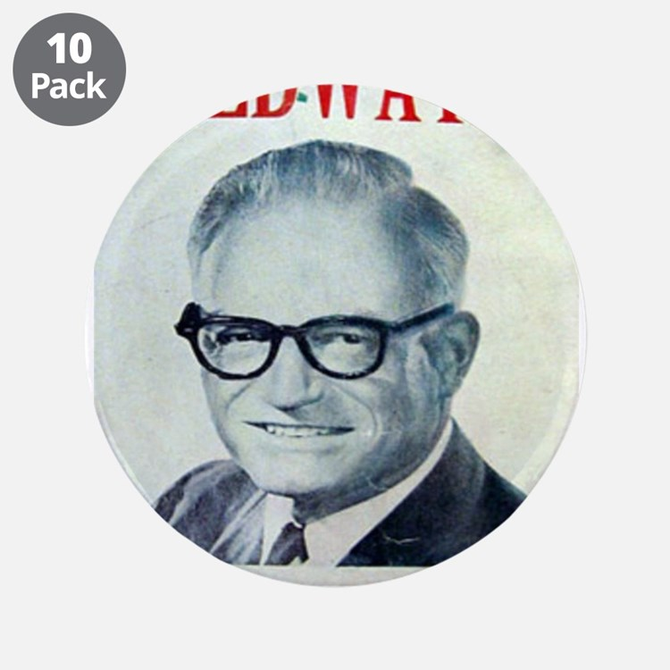 """Cute Barry goldwater 3.5"""" Button (10 pack)"""