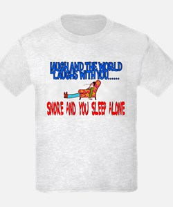 Snore and you sleep alone T-Shirt