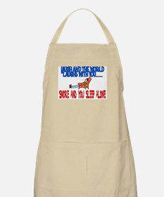 Snore and you sleep alone BBQ Apron