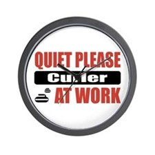 Curler Work Wall Clock
