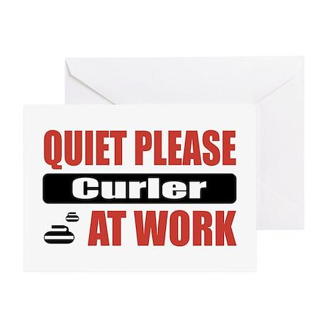 Curler Work Greeting Card