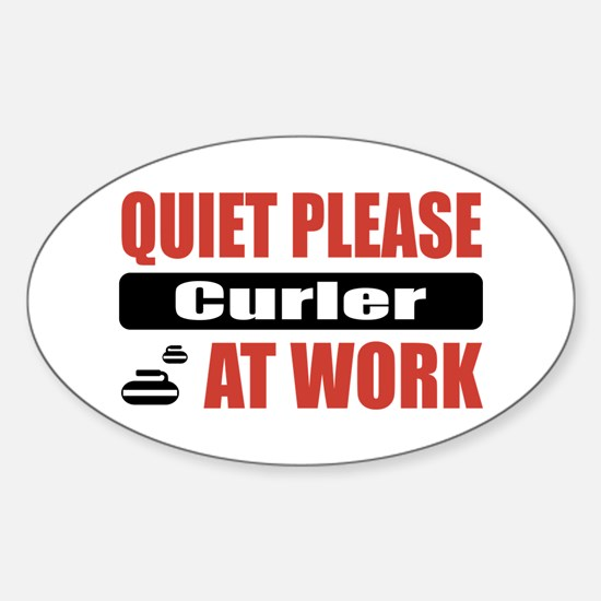 Curler Work Oval Decal