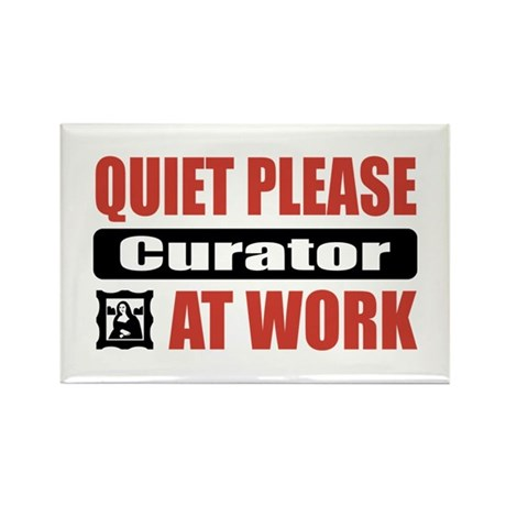 Curator Work Rectangle Magnet