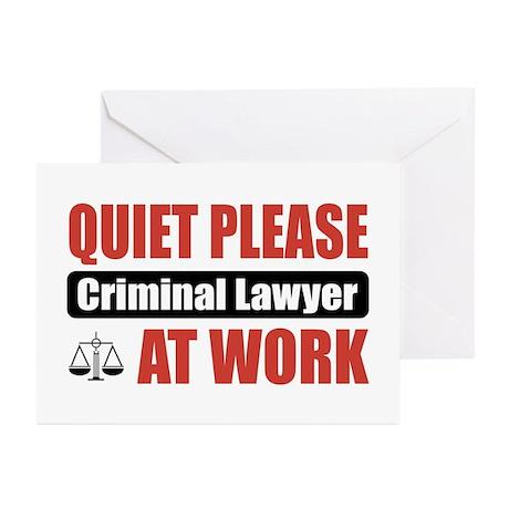 Criminal Lawyer Work Greeting Cards (Pk of 20)