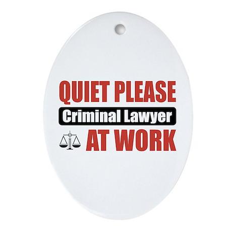 Criminal Lawyer Work Oval Ornament