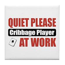 Cribbage Player Work Tile Coaster