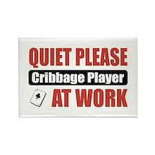 Cribbage Player Work Rectangle Magnet