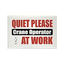 Crane Operator Work Rectangle Magnet