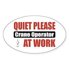 Crane Operator Work Oval Bumper Stickers