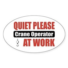 Crane Operator Work Oval Decal