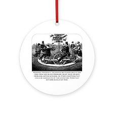 Roller Coaster Warning Ornament (Round)